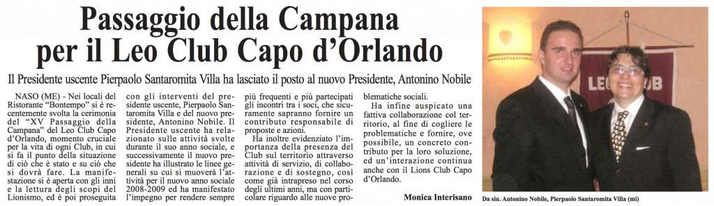 Passaggio Campana 2008/2009